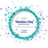 De dagpartij van de valentijnskaart `s Stock Fotografie