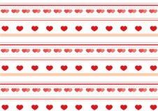 De dagpatroon van de valentijnskaart `s Royalty-vrije Stock Afbeeldingen