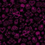 De dagpatroon van valentijnskaarten Royalty-vrije Stock Afbeeldingen