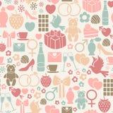 De dagpatroon van valentijnskaarten Stock Fotografie