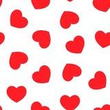 De dagpatroon van Valentine naadloos met hartenversiering stock illustratie