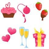 De dagpictogrammen van de valentijnskaart Stock Afbeeldingen