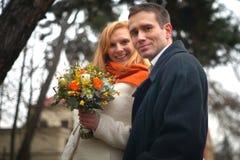 De dagportret van het huwelijk Royalty-vrije Stock Afbeelding