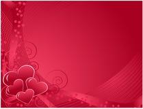 De dagprentbriefkaar van de valentijnskaart Stock Afbeeldingen