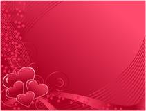 De dagprentbriefkaar van de valentijnskaart Stock Foto
