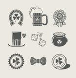 De dagreeks van Patrick pictogrammen Royalty-vrije Stock Fotografie