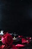 De dagrozen en champagne van Valentine Royalty-vrije Stock Afbeelding