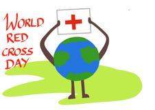 De dagsymbool van het wereld rode kruis royalty-vrije illustratie