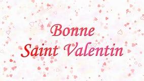 De Dagtekst van gelukkig Valentine in Franse Bonne Heilige Valentin op lichte achtergrond royalty-vrije illustratie