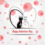 De dagvector van de gelukkige valentijnskaart Royalty-vrije Stock Afbeelding