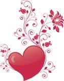 De dagvector van de valentijnskaart royalty-vrije illustratie