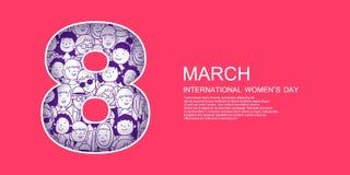 De dagvector van de internationale vrouw vector illustratie
