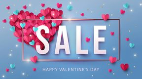 De Dagverkoop van gelukkig Valentine backgroun royalty-vrije illustratie
