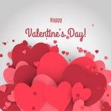 De dagverkoop van Valentine Brieven met de achtergrond en de bezinning van de hartenvalentijnskaart Royalty-vrije Stock Afbeelding