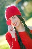 De dagvrouw van valentijnskaarten stock fotografie