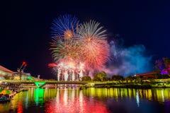 De Dagvuurwerk van Australië in Adelaide City royalty-vrije stock foto