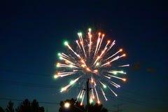 De dagvuurwerk van Canada in hemel 8 stock foto