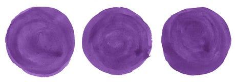de Dahlia abstracte achtergrond van de 3 ronde vlekkenwaterverf, vlek, plonsverf, vlek, scheiding Uitstekende schilderijen voor o stock illustratie
