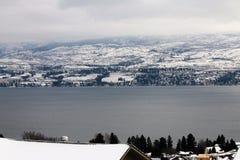 De dak hoogste winter toneel Royalty-vrije Stock Foto's