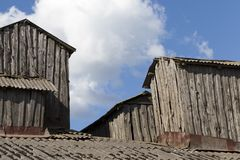 de dakbouw loods royalty-vrije stock foto