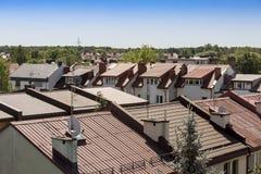 De daken Stock Afbeeldingen