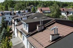 De daken Stock Foto's