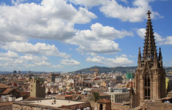 De daken van Barcelona Stock Foto