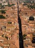 De Daken van Bologna stock afbeeldingen