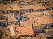 De daken van dakendaken Stock Afbeeldingen