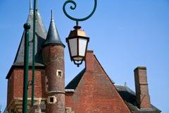De daken van de baksteen van middeleeuwse stad Royalty-vrije Stock Afbeeldingen