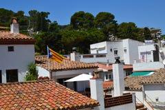 De daken van de huizen Royalty-vrije Stock Foto's