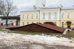 De daken van de kelders op het grondgebied van Novgorod Kremli Stock Afbeelding