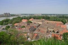 De daken van de oude stad Petrovaradin Royalty-vrije Stock Afbeeldingen