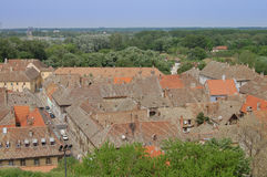 De daken van de oude stad Petrovaradin Royalty-vrije Stock Foto's