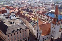 De daken van de tegel van München, Duitsland (1) Royalty-vrije Stock Afbeeldingen