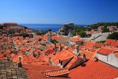 De daken van Dubrovnik Royalty-vrije Stock Foto's