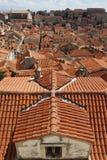 De daken van Dubrovnik Stock Afbeeldingen