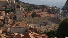 De daken van Dubrovnik Stock Foto's