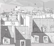 De daken van Frankrijk - van Parijs Stock Foto