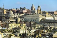 De daken van Genua Stock Afbeeldingen