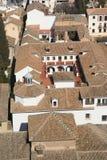 De Daken van Granada Stock Afbeelding