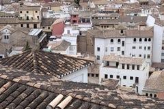 De daken van Granada stock foto's
