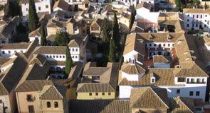 De daken van Granada stock afbeeldingen