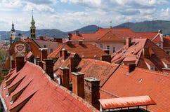 De daken van Graz Stock Fotografie