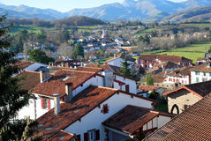 De daken van heilige-Jean-bont-DE-Haven dorp Royalty-vrije Stock Foto's