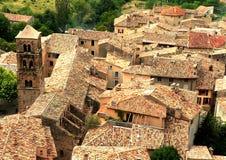 De daken van het dorp in Frankrijk Stock Fotografie