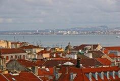 De daken van Lissabon Stock Foto's