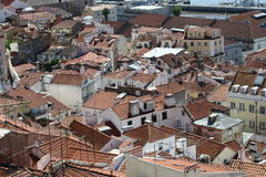De daken van Lissabon Stock Afbeeldingen