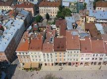 De daken van Lviv Stock Afbeelding