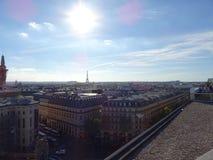 De daken van Parijs iin Frankrijk Stock Foto